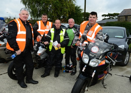 Barry Fay, Kennith Smith, Gerry Butterly ,Paddy Butterly and Gerry Hoey at The Run Of The Country Motor Cycle For St Itas School Pic Jimmys People