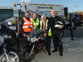 JImmy Keneddy, Mark Tobin ,Harry Mc Ardle Height for HIre and Michael Mc Cormick at the Start of the Run of the Country Motorcylce for St Itas Special School Pic Jimmy Weldon