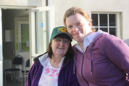 Supportes Anne Hoey and Bridge Heaney