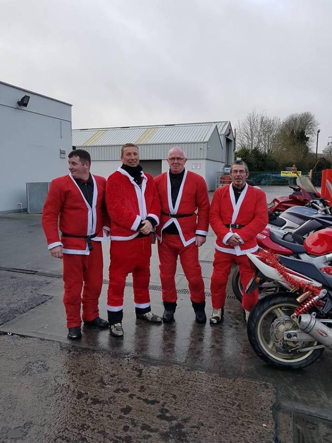 Four Santa Bikers