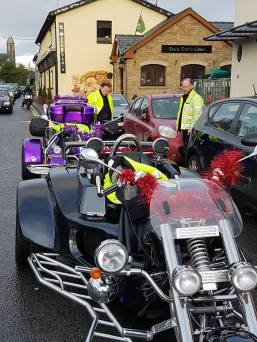Daddy & Mammy trikes. Guess which one is Mammy's?