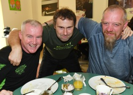 Mark Churchill, Derek O' Connor and Bill Willis at the Run of the Country Breakfast at Malta Services Photo Jimmy weldon