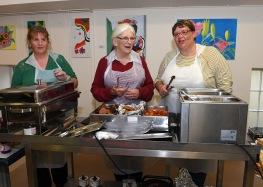 Breakfast Ladies Ruth McKeever, Clare Leonard, Liz Doyle