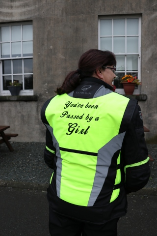 Elaine Leavy show off her jacket